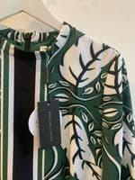 Finders Keepers Green Floral Print Dress Size S 1422A/45 A